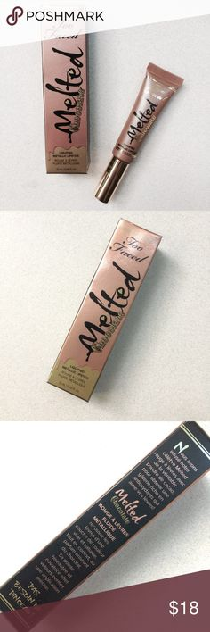 ✨CCO SALE✨TOO FACED✨MELTED metallic lipstick BNIB metallic lipstick in Metallic Chocolate Diamonds by Too Faced. Offers welcome! Too Faced Makeup Lipstick