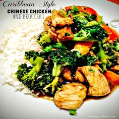 Caribbean/Trinidadian Style Chinese Chicken and Broccoli - Better than Takeout with our secret ingredient, SOMETHING us Trinidadians can't do without. The sauce in this recipe is to die for, WELL TOO LIVE FOR! I'm telling you it is so delicious you will be licking your fingers and asking for more.