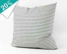 Decorative Housewares Handmade Black and White Stripe Pillow Cover Corduroy Fabric Pillow Throw Pillow Pillow Case Cushion Cover 1447