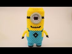 How To: 3D Origami Minion - Part 1 - YouTube