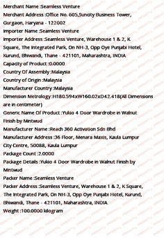 Buy Yukio 4 Door Wardrobe in Walnut Finish by Mintwud Online - 4 Door Wardrobes - Wardrobes - Furniture - Pepperfry Product 4 Door Wardrobe, Wardrobe Furniture, Walnut Finish, Types Of Wood, Wardrobes, Doors, Wood Types, Closets, Cabinets