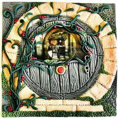 Piano piano prende forma anche questa porta... e potete già sbirciare dentro la casa di un #hobbit ! #workinprogress  #customorder    #archidee #becreative #bepositive #lordoftheringsfan #lordoftherings #workshop #polymerclayworkshop #polymerclay #pastapolimerica #fimo #cernit #polymerclayartist #polymerclaycreations #fimocreations #ilsignoredeglianelli #frodo #handmade  #frodobaggins #bilbo #bilbobaggins #fantasy #hobbithouse #hobbitlife #hobbitdoor #whimsical #lohobbit