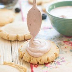 Fresh Blueberry Frosted Swig Copycat Sugar Cookies... Utah's favorite cookie!