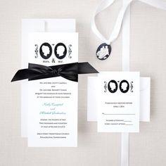 Romantic Cameo Wedding Invitation | Wedding Invitation