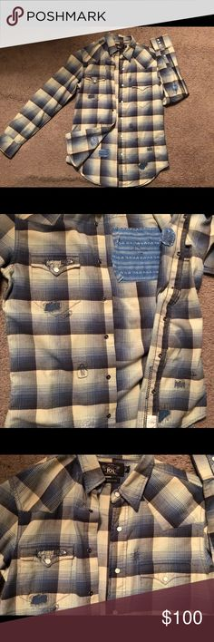 Ralph Lauren RRL Crafty patchwork Flannel This RRL Flannel has too many different designs on it to count, definitely one of my favorite flannels kept it in great condition only worn under 3 times ! Ralph Lauren Shirts Casual Button Down Shirts