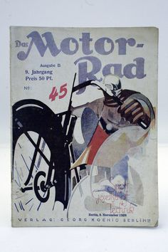 Zeitschrift ¨DAS MOTORRAD¨ Jahrgang 1929 / 5x / Oldtimer / Motorcycle / D in…
