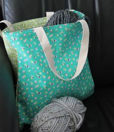 Our adorable Nana's Pantry collection is featured on the howtosew.com blog! Get the free pattern to make this bag here: http://howtosew.com/blog/sewing-projects/easiest-tote-bag