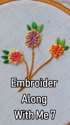 #Embroidery Along with me Series 7 #embroidery #embroiderydesign #handembroidery