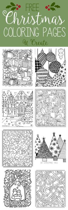 Free Christmas Adult Coloring Pages at U Create