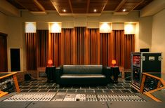 Control room at La Chapelle studio with a Cadac A-Series mixing console.