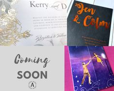 The most beautiful and unique wedding invitations, RSVP cards, and other wedding stationery available in Ireland, the UK and worldwide. Unique Wedding Invitations, Wedding Stationery, News Design, All Design, Wedding Story, Coming Soon, Invitation Design, Rsvp, Range