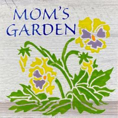 The Designer Series Pansy Garden Tile is Made in Canada and comes with a Lifetime Warranty. Garden Tiles, Garden Art, Flower Tiles, Commercial Flooring, Galvanized Steel, Tile Design, Pansies, Special Gifts, Hand Drawn