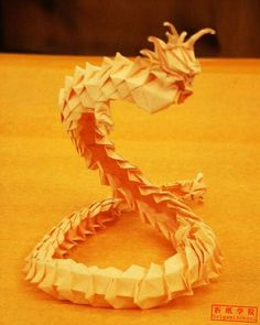 Chinese Dragon origami tutorial
