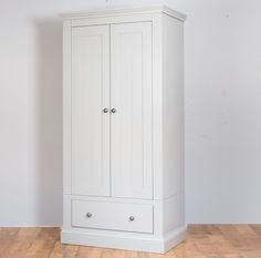 Extra Tall New England Painted 2 Door 1 Drawer  Wardrobe