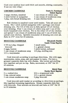 Retro Recipes, Old Recipes, Vintage Recipes, Crockpot Recipes, Great Recipes, Chicken Recipes, Favorite Recipes, Skillet Recipes, Recipies