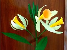 Easy Paper Flowers Oriental Lily (flower # 113) - YouTube
