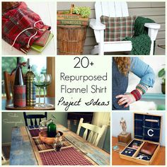 Love flannel for autumn, fall, and winter? Well, this is the BEST collection of repurposing and upcycling DIY craft project ideas for an old flannel shirt!