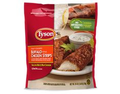 Looking for the bold flavor of buffalo sauce in your chicken strips? Grab a bag of our white meat buffalo chicken strips today! Breaded Chicken, Crispy Chicken, Healthy Chicken, Chicken Salad, Baked Zuchinni Recipes, Buffalo Chicken Strips, Tyson Chicken, Chicken Strip Recipes, Dehydrated Onions