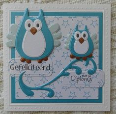Van kaarten maken tot uiltjes haken Marianne Design Cards, Owl Card, Australian Birds, Owl Punch, Bird Cards, Paper Cards, Paper Piecing, Card Making, Design Inspiration