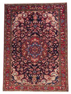 Nanaj Perser Handgeknüpft orientalisch Teppich 221 x 150 cm carpet