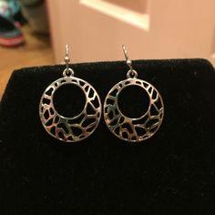 Lia Sophia earrings Beautiful silver earrings from Lia Sophia Lia Sophia Jewelry Earrings