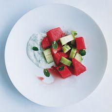 Watermelon and Cucumber Mint Tsatsiki Salad