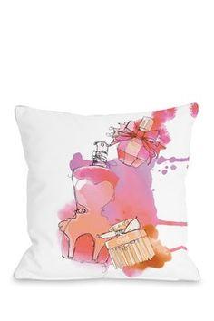 Coral Perfumes White Multi Square Pillow
