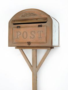 Forest Wooden Post Box; ideal for guest's cards.