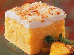 Hawaiian Classic Pineapple Coconut Cake...so simple and yummy