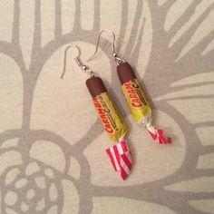 Boucles d'oreilles sous forme de bonbon