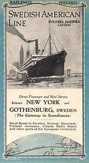 Swedish American Line - Svenska Amerika Linien - SAL