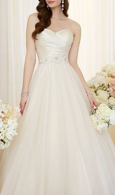 Dolce Satin and Tulle ball gown wedding dress
