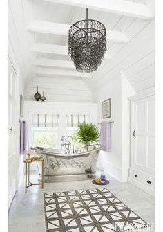 Glamorous Bathroom with Silver Bathtub