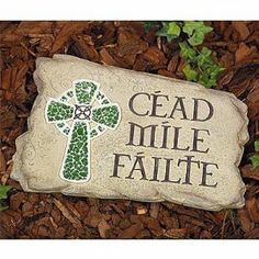 Irish Welcome Stone - Decorating a Garden for St. Patrick's Day