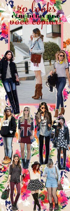 20 looks com botas pra você copiar! http://bit.ly/20lookscombota