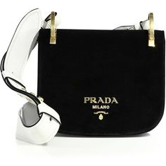 Prada Pionnière Velvet Saddle Bag ($1,770) ❤ liked on Polyvore featuring bags, handbags, shoulder bags, snap closure purse, handbag purse, saddle bags, velvet purse and shoulder handbags