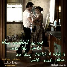 They couldn't go out into the world, so they made a world with each other. #LaborDayMovie