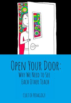 If you don't understand how truly amazing peer observation can be opening your doors to other teachers can be a fantastic source of professional development. School Leadership, Educational Leadership, Educational Technology, Teaching Strategies, Teaching Tips, Teaching Art, Professional Learning Communities, Professional Development For Teachers, Teacher Hacks
