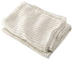 USA Made Brahms Mount Linen Head Towel, Pearl/Natural, Head - modern - Towels - Brahms Mount