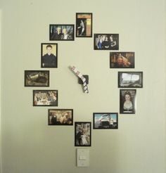 Make a wall clock out of your favorite photos