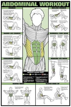 Yoga For Beginners Tips : AB / Abdominal Workout Chart – Healthy Fitness Training Sixpack Abs – Yeah We Wo… Body Fitness, Fitness Tips, Fitness Motivation, Health Fitness, Workout Fitness, Health Club, Free Workout, Wall Workout, Fitness Foods