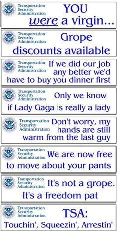 TSA Bumper Stickers Job Security, Airport Security, First Citizens, Aviation World, Reasons To Smile, Funny Cartoons, Car Stuff, Bumper Stickers, Funny Shit