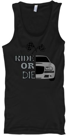 Ride Or Die Black T-Shirt Front