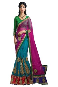 The New Generation of Fashion. Beautiful stunned Looking designer Wedding Sarees.  for More Info Visit http://www.odhnisarees.com/