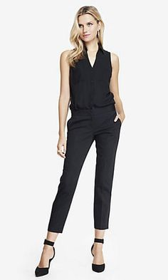 TWILL CROPPED EDITOR PANT