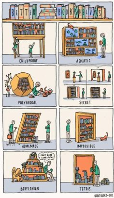 glorious bookshelf fun!