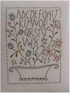 Flower Basket Sampler Pattern by Anni Downs I Hatched and Patched