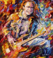 Metallica Cliff Burton by Leonid Afremov by Leonidafremov
