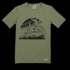 Micheau-Vernez Sea Bird Tee in Green