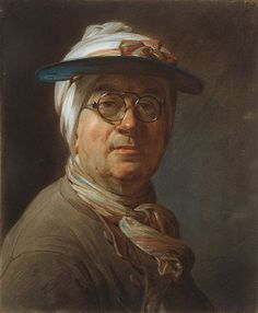 X Jean Siméon Chardin French, 1699-1779 Self-Portrait with a Visor, c. 1776. Art Institute Chicago